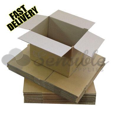 15 x SINGLE WALL CARDBOARD CORRUGATED SHIPPING POSTAL BOXES 18X12X7