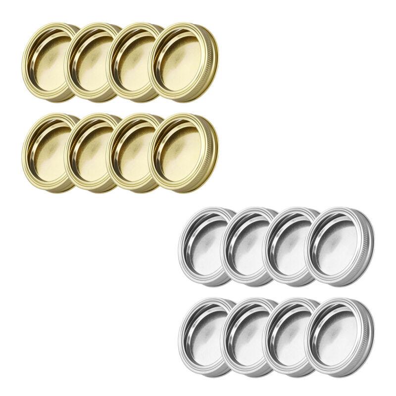 Preserve Canning Mouth Mason Jars Cap 8pcs 70mm Inner SCREW BANDS/&SEAL LIDS