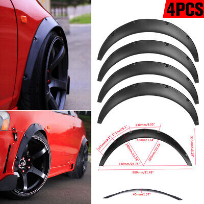 4x 2'' 50mm Universal JDM Fender Flare Widened Body Wheel Arch ABS Car