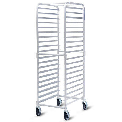 20 Sheet Aluminum Bun Pan Bakery Rack Rolling Kitchen Commercial 26