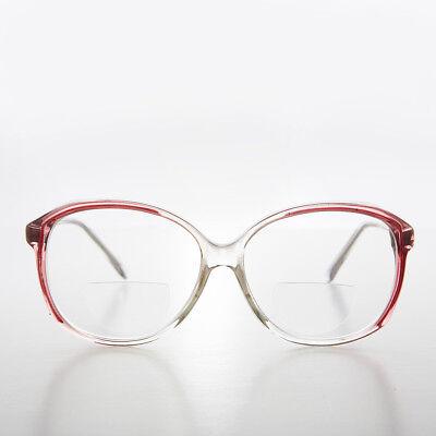 Damen Bifokale Lese Brille Klar mit Rotem Akzent 2.25 Dioptrie - Mallory