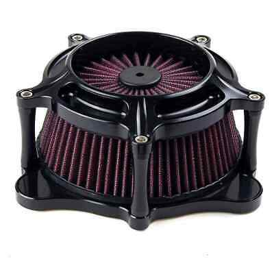 Matte Black Air Cleaner Intake Filter For Harley Touring 08-2016 Softail 2016 BS