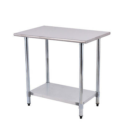 """24"""" x 36"""" Stainless Steel Work Prep Table Commercial Kitchen Restaurant New"""