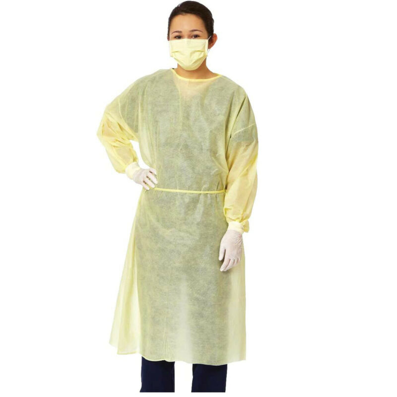 Disposable Isolation Gowns Fluid Resistant Dental-Medical PPE 10/50/100PCS