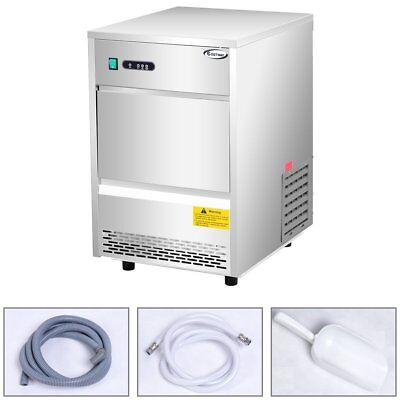 Stainless Steel Commercial Ice Maker 70lb24h Freestanding Portable Ice Machine