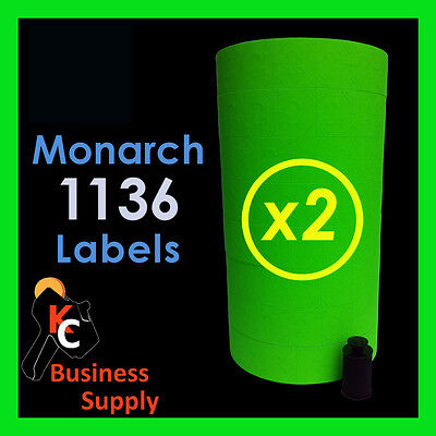 28000 Labels For The Monarch 1136 2 Sleeves Green