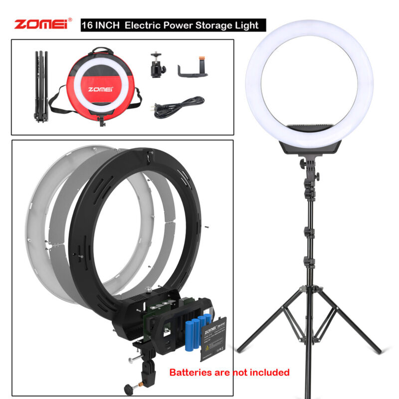 """16"""" SMD LED Ring Light Dimmable Lighting Selfie Stand KIT for Camera Live Phone"""