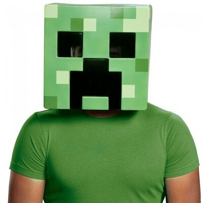 Creeper Adult Mask Minecraft  Mine Craft Costume Halloween Gift Accessory - Adult Halloween Crafts