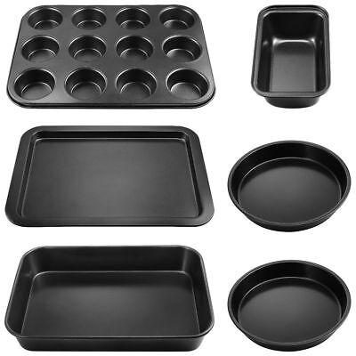 (6 Piece Nonstick Carbon Steel Metal Bakeware Set -  Even Heating / Non-Warping)