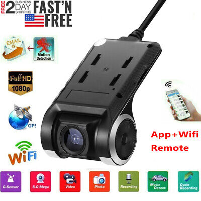 Wifi GPS Hidden Car DVR Camera Dash Cam Video Recorder Night Vision HD 1080P USA