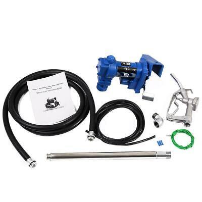 12v Dc 20gpm Gasoline Fuel Transfer Pump Explosion-proof Set Gas Diesel Manual