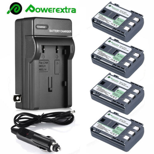 NB-2LH NB-2L Battery for Canon Rebel XT XTi PowerShot G7 G9 S50 + Fast Charger