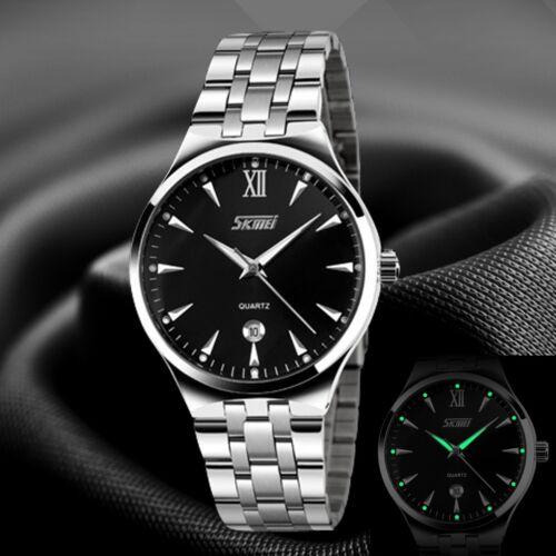 SKMEI Luxury Business Men's Stainless Steel Waterproof Analog Quartz Wrist Watch