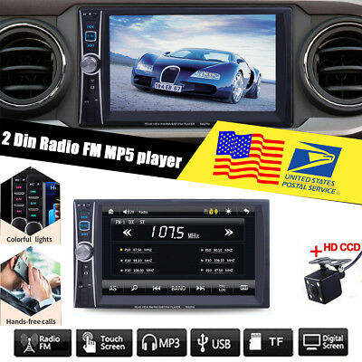 Gli Stereo Amplifier - 7 inch  2 Din Car Stereo MP5 Player in-dash unit  FM Bluetooth USB/AUX + Camera