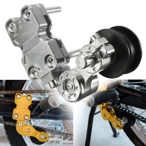 Universal Aluminum Adjuster Chain Tensioner Roller For Motorcycle Chopper Silver