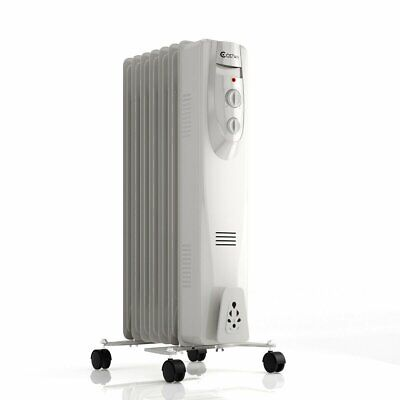 Optimus H6013 Portable 7 Fins Oil Filled Radiator Heater with Timer