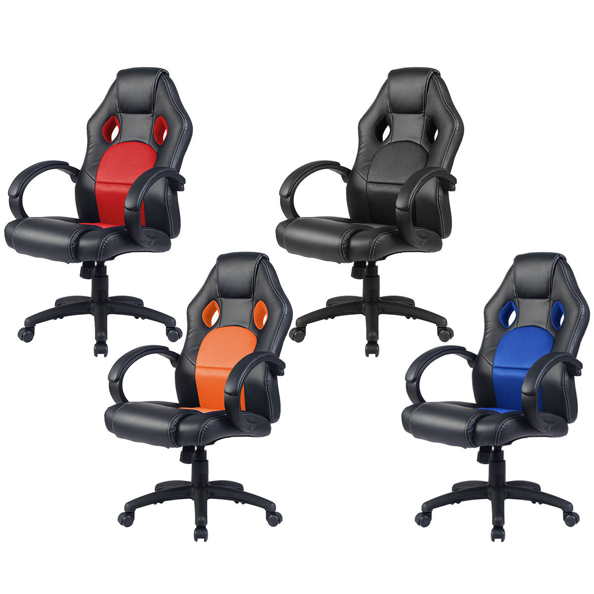 office chair racing sports car seat gaming armchair computer executive chairs in suffolk. Black Bedroom Furniture Sets. Home Design Ideas