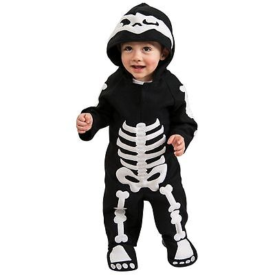 Infant Skeleton Jumpsuit Halloween Costume Size 1-2 For 6-12 Months Rubie's New