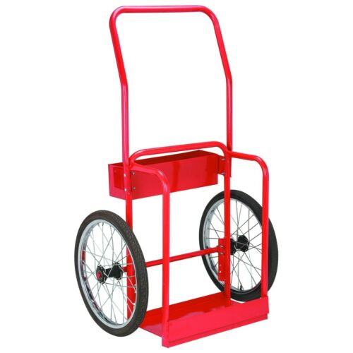 Welding Cart Hauls Welding Tanks Torch Equipment, Red Steel