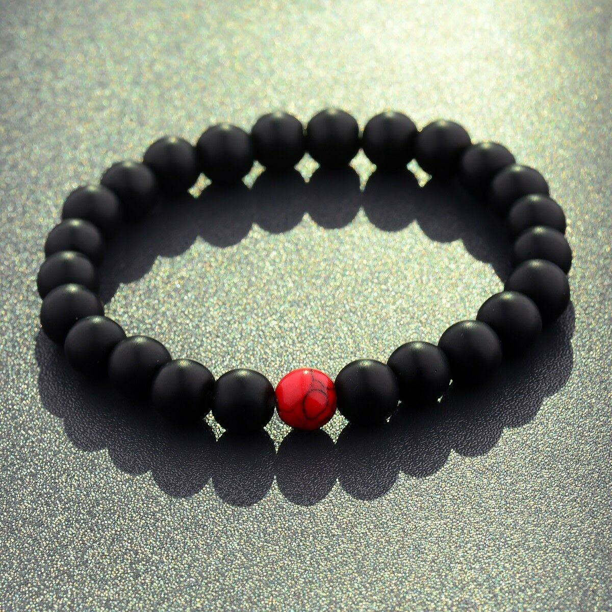 8MM Matte Beads Unisex Lovers Couples Matching Gifts Promise Bracelets Men Women