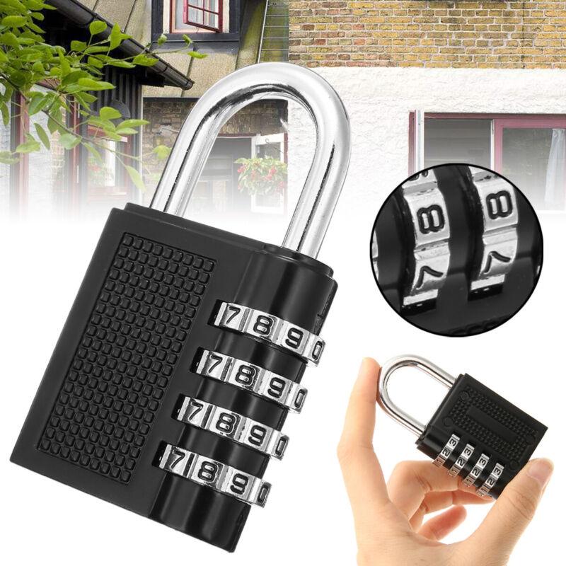 1/2Pcs Padlock 4-Digit Combination Lock Password Security Ba