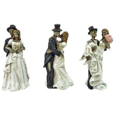 3er Set Skelett Brautpaar