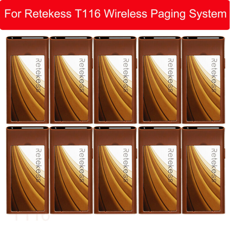 Retekess T116 10Pcs Coaster Pager for Restaurant Wireless Queuing Calling System