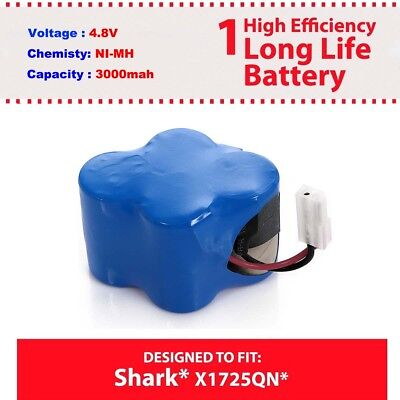 Replacement Shark V1700Z V1930 Cordless Sweeper Battery Part # X1725QN US