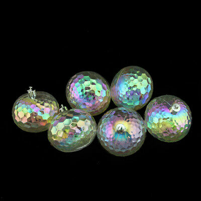 Northlight 6ct Clear Shatterproof Iridescent Christmas Disco Ball Ornaments 2.5