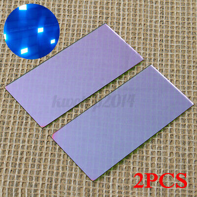 2x Blue Welding Lens 2 X 4.25 With Hardened Gold Filter For Welding P