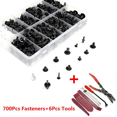700Pcs Car Door Bumper Fender Liner Sealing Clips Fasteners w/ 6Pcs Repair Tool