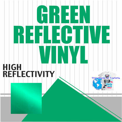 Reflective Green Sign Vinyl Adhesive Safety Plotter Cutter 12x10ft