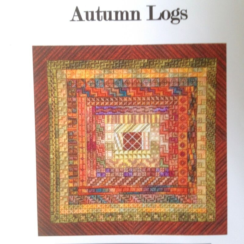 Needle Delights Debbie Rees Autumn Logs Cabin kit counted canvas Needlepoint