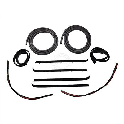 - Door And Window Run Channel Sweep Felt Seal Kit for 73-80 GMC Chevy Pickup Truck