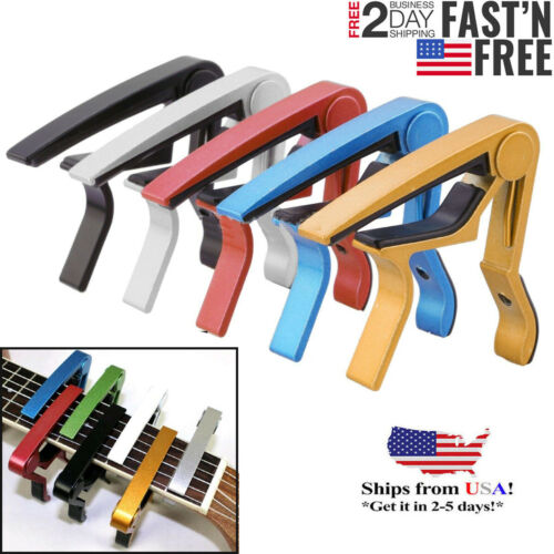 Guitar Capo for Acoustic and Electric Guitars Quick Change Grain Clamp  USA