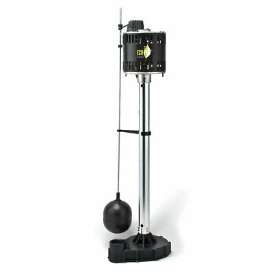 Eco-flo Epc50 12 Hp 5000 Gph Cast Iron Column Pedestal Sump Pump Float Switch