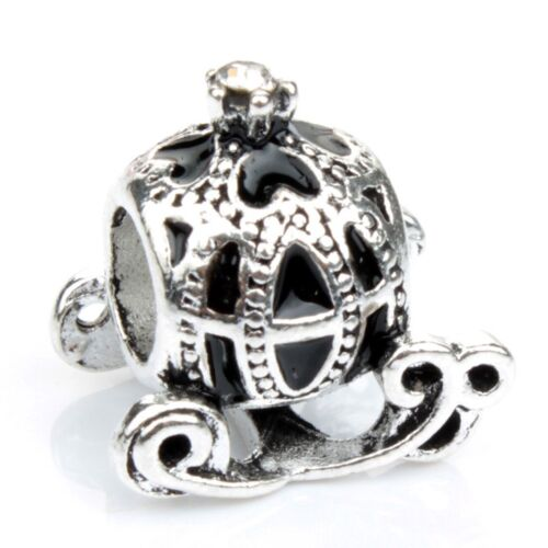 European Silver Charms Merry Xmas Beads CZ Pendant Fit 925 Sterling Bracelets