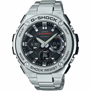 Casio G Shock G Steel Gsts110d1 A Tough Solar Stainless Steel Men S