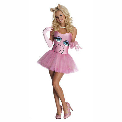 The Muppets Miss Piggy Sexy Pink Adult Costume Dress Rubies 880482 - Adult Muppet Costumes