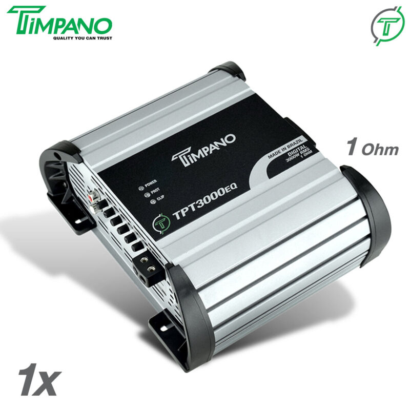 Timpano TPT3000EQ Brazilian Amplifier 3550W RMS 1 Ohm Digital Amp 3K / PRV Group