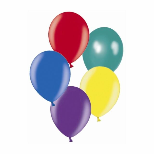 "50 x 11"" Dark assorted Metallic Latex balloons for a party"