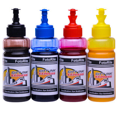 Heat Transfer Sublimation Dye Ink Refill Ricoh Printer 4 X 100ml Free Icc Profie