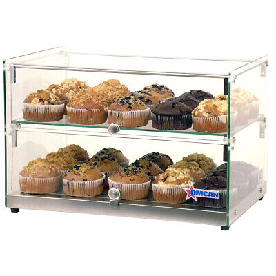Omcan 44373 Countertop Food Display Case Wsquare Front Glass 22w