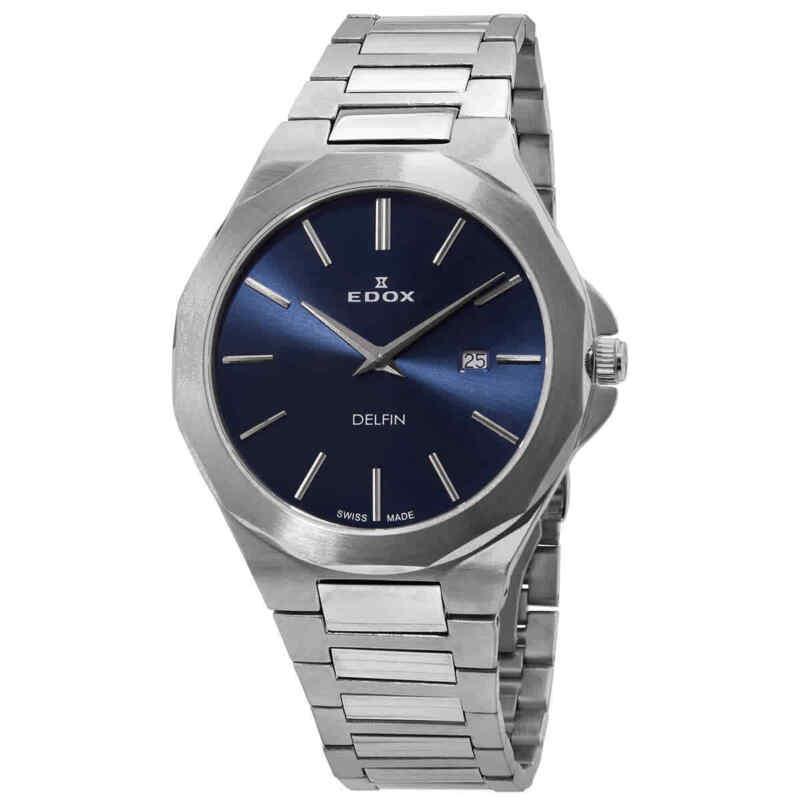 Edox Delfin Quartz Blue Dial Men Watch 71289 3M BUIN