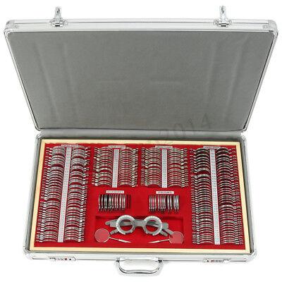 266pcs Metal Optometry Optical Trial Lens Set Rim Trial Frame Aluminum Case