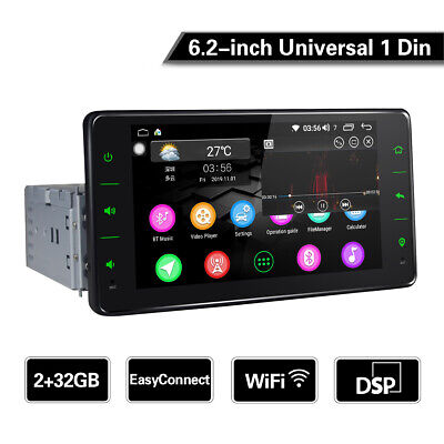 JOYING 6.2 Inch Single Din In Dash Mirror Link Android GPS Navigation with 2+32G