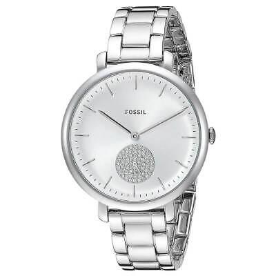 Fossil Women's Watch Jacqueline Silver Tone Dial Stainless Steel Bracelet ES4437