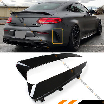 FOR 17-19 MERCEDES BENZ W205 C43 2DR COUPE REAR BUMPER SIDE VENT INSERT CANARDS