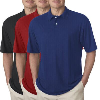 Jerzees Short Sleeve Polyester Polo Sport Shirt For Men Pique Collar Golf -