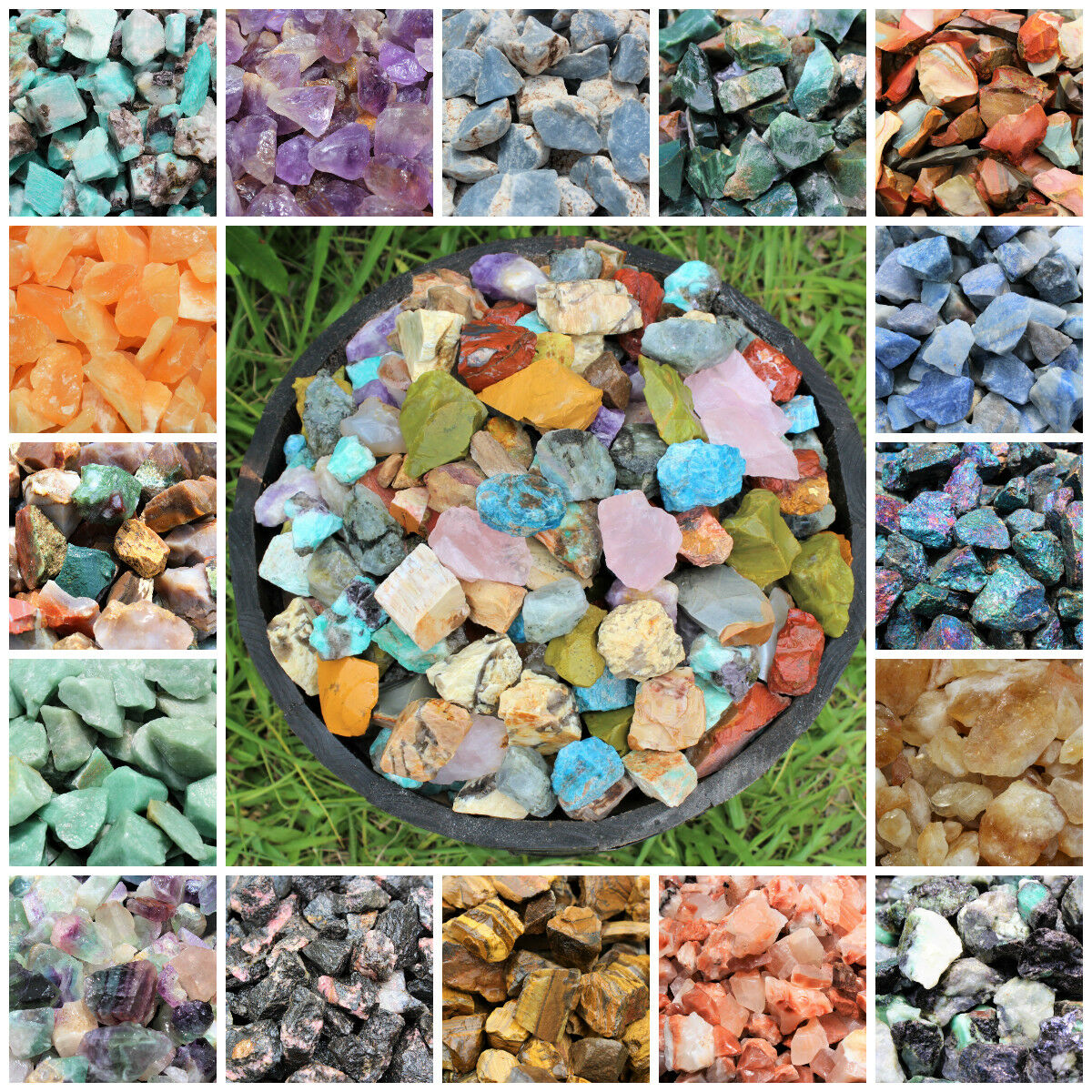 Raw Rough Natural Stones: Choose Type